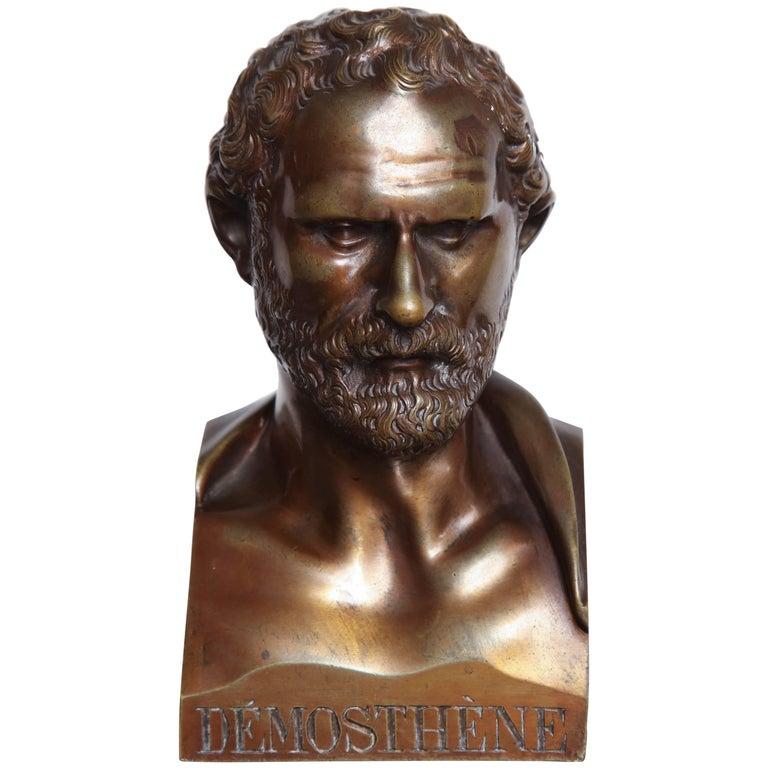 Mid-19th Century Bronze Bust of Demosthene