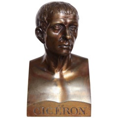 Mid-19th Century Bronze Bust of Cicero