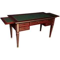 Russian Empire Leather Top Desk