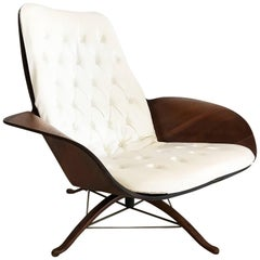 Midcentury Cream Plycraft Mr. Chair by George Mulhauser Lounge Chair