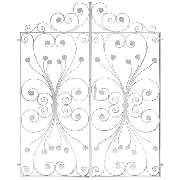 Pair of Wrought Iron Garden Gates