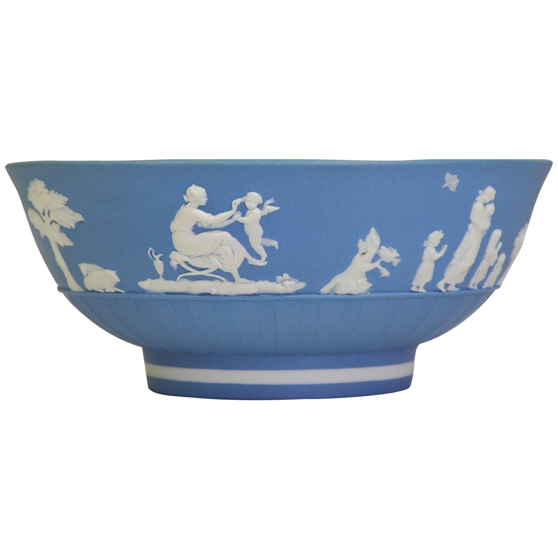 Pale Blue Jasperware Bowl, Wedgwood, circa 1790