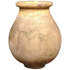 Large 19th Century French Terracotta Olive Jar from Provence