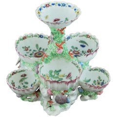 Shell Sweetmeat Stand, Bow Porcelain, circa 1750
