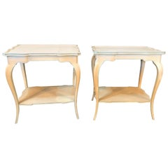 Pair of Distressed Paint Decorated Maison Jansen Side Tables or Night Tables