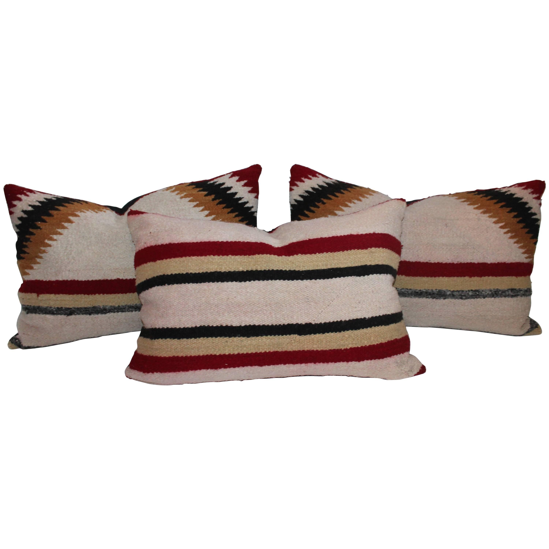 Navajo Saddle Blanket Pillows, Set of Three