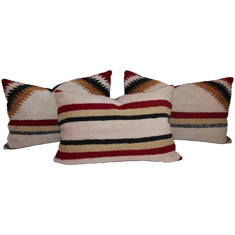 Navajo Saddle Blanket Pillows, Set of Three 1