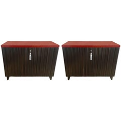 Spectacular Pair of Classy Laura Kirar Designed Commodes by Baker