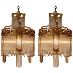 Pair of French Art Nouveau Chandelier