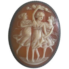 """Sterling Silver """"Three Muses"""" Cameo Ring"""