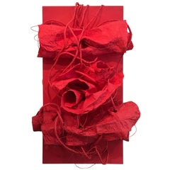 Red Soom, 3D Modern Wall Sculpture, Limited Edition by Kimhan