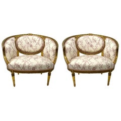 Pair of Gilt Salon Chairs