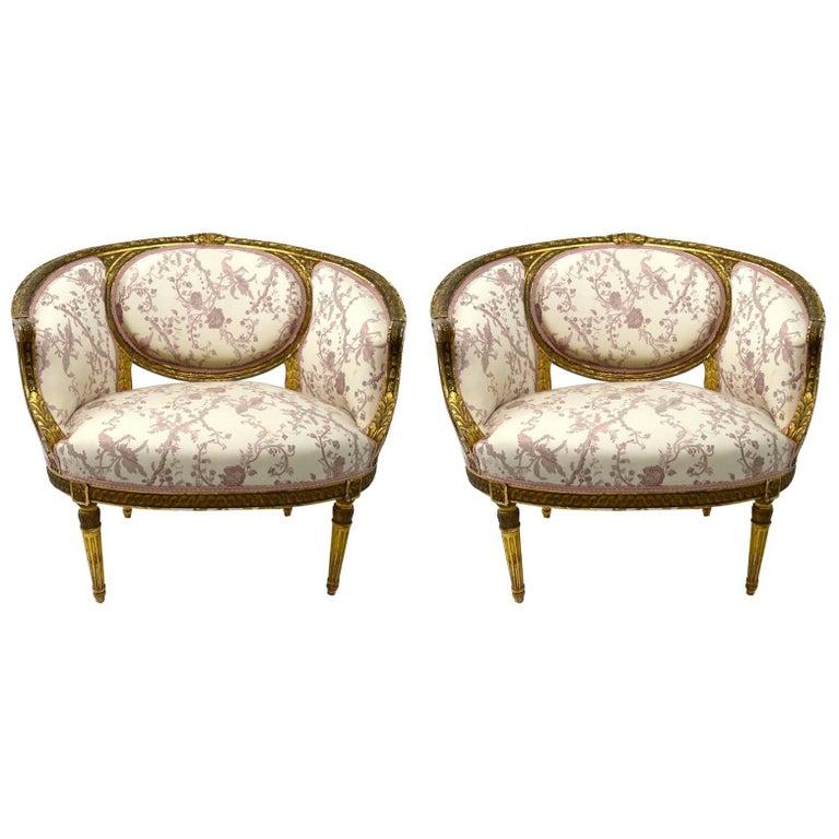 Pair of Gilt Salon Chairs