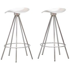 """Pair of """"Jamaica"""" Swivel Bar Stools by Pepe Cortes"""