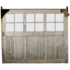19th Century Solid Wood Large Paneled Barn Door