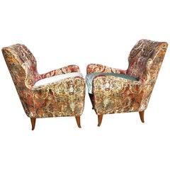 Pair of Italian Lounge Chairs for Hotel Bristol Merano, circa 1949