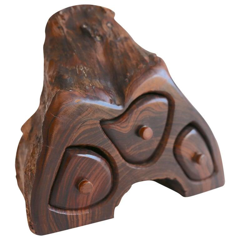 Hand-Carved Studio Craft Jewelry or Stash Box