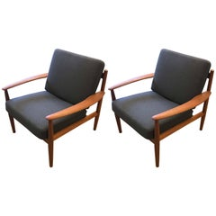 Lounge Chairs by Grete Jalk for France & Sons, Pair