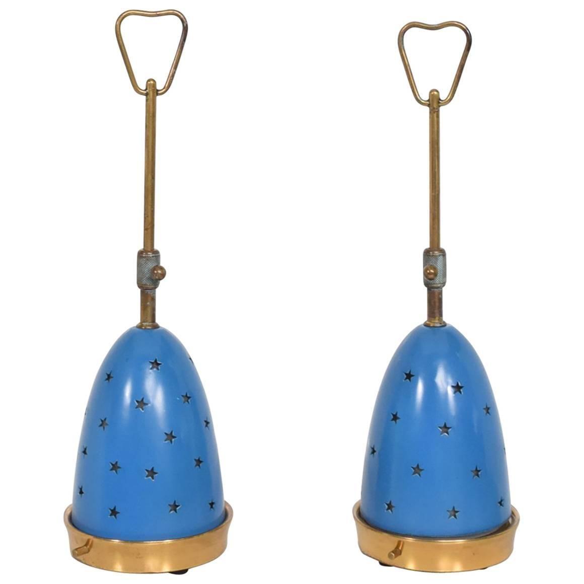 Angelo Lelli Table Lamps for Arredoluce, Midcentury Italian Modern