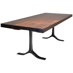 Bespoke Reclaimed Hardwood Table on Sand Cast Aluminum Base, P. Tendercool