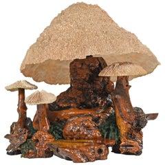 Cypress Wood Coral Mushroom Lamp