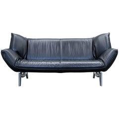 Leolux Tango Designer Leather Sofa Black Two-Seat Function Modern