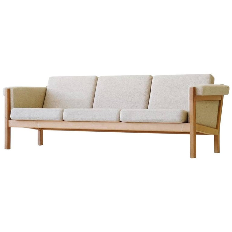 Three-Seat Sofa by Hans J. Wegner for GETAMA Model GE-40 Oak