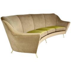 Italian Midcentury Circular Sofa, 1950's