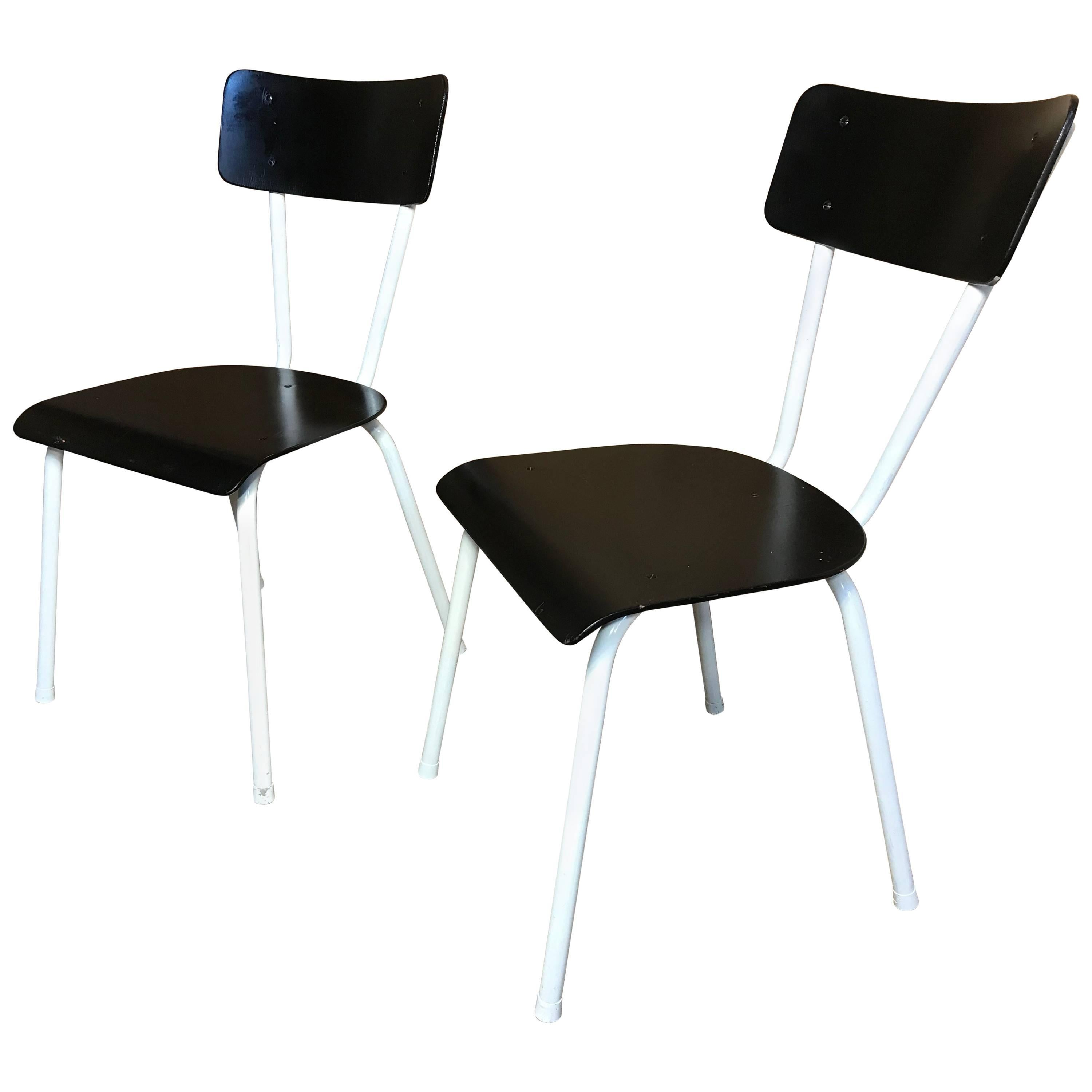 Genial 1950s Vintage Retro Black And White Chairs