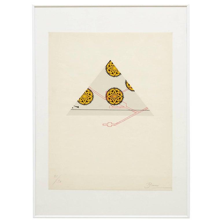 Joan Brossa Lithograph Visual Poem