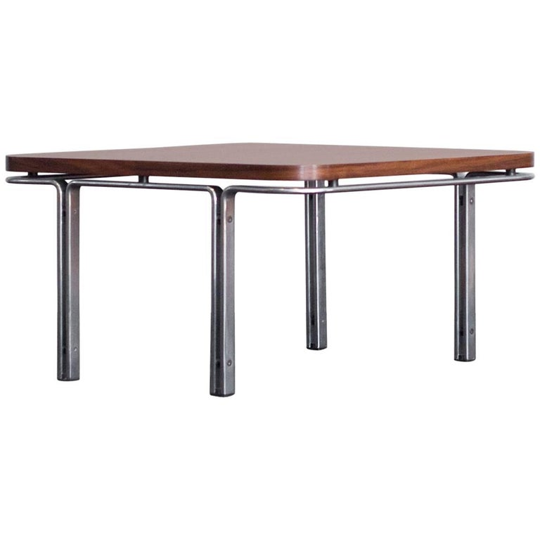 Rare Horst Brüning Kill International Coffee Table Rosewood Flat Steel, 1960s
