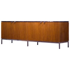 Florence Knoll Credenza Sideboard Marble Walnut