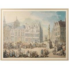 Thomas Rowlandson, La Place De Mer, Antwerp
