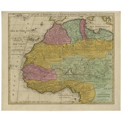 Antique Map of North and West Africa by J.B. Elwe, 1792