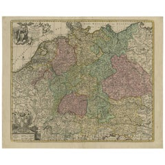 Antique Map of Germany by J.B. Elwe, 1792