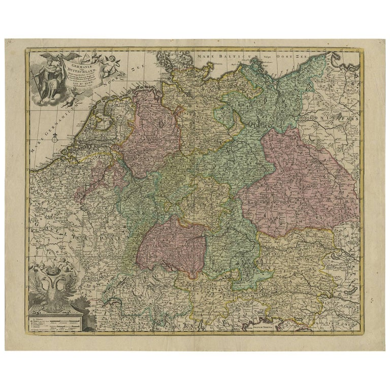Map Of Germany For Sale.Antique Map Of Germany By J B Elwe 1792