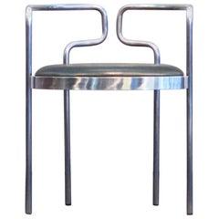 Henning Larsen Chair Mod. 9230 Fritz Hansen Denmark Black Leather Steel