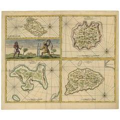 Antique Map of Manipa, Nusa-Laut, Saparua & Haruku 'Indonesia' by F. Valentijn