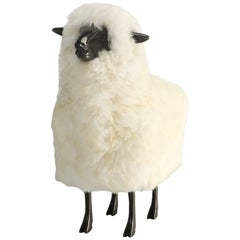 Lalanne Inspired Lamb, Made from Solid Bronze with Real Sheep Fur