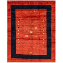 21st Century Contemporary Red Persian Gabbeh Rug