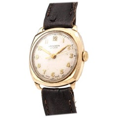 19-Carat Gold Wrist Watch by J. W. Benson 20th Century