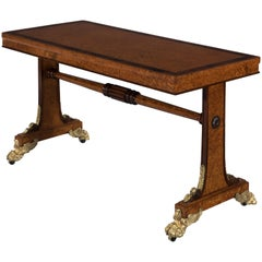 19th Century Regency Amboyna and Rosewood Side Table with Parcel Gilding