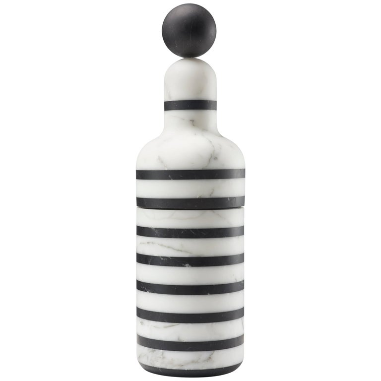 Coolers D, Bottle Cooler in Marble and Brass by Pietro Russo for Editions Milano
