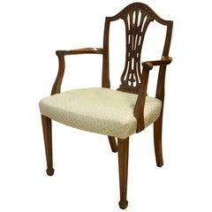 Mahogany Hepplewhite Period Carver Chair