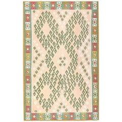 Flat-Woven Vintage Bessarabian Kilim Rug