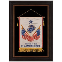 WWII Son-in-service Banner for a United States Marine