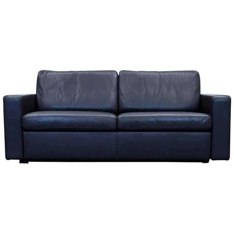 cor conseta designer sofa leather black sleepsofa three seat couch modern at 1stdibs. Black Bedroom Furniture Sets. Home Design Ideas