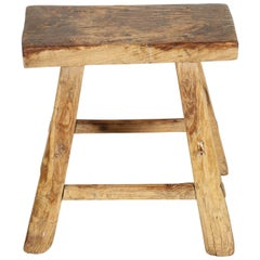 Classic Antique Chinese Stool, Great Patina