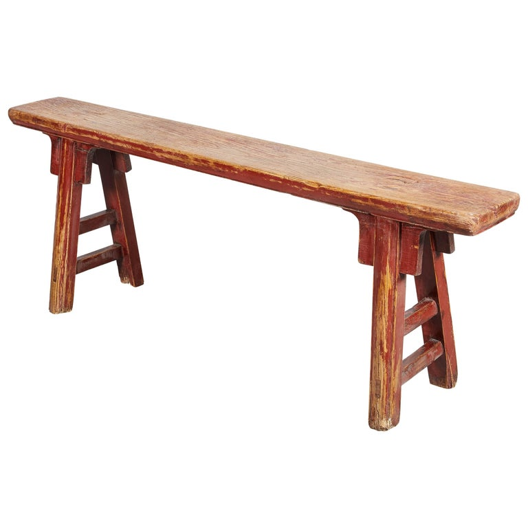 Antique Solid Wood Chinese Bench, Kung Fu Bench For Sale ...