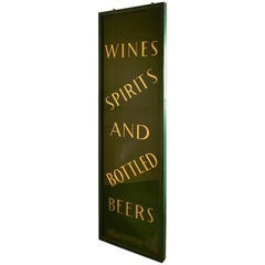 19th Century Pub Mirror Advertising Sign